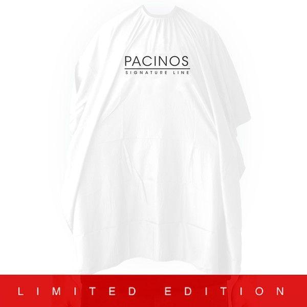 Pacinos pláštenka biela je kvalitná pláštenka americkej značky Pacinos vhodná do každého barbershopu alebo kaderníctva.