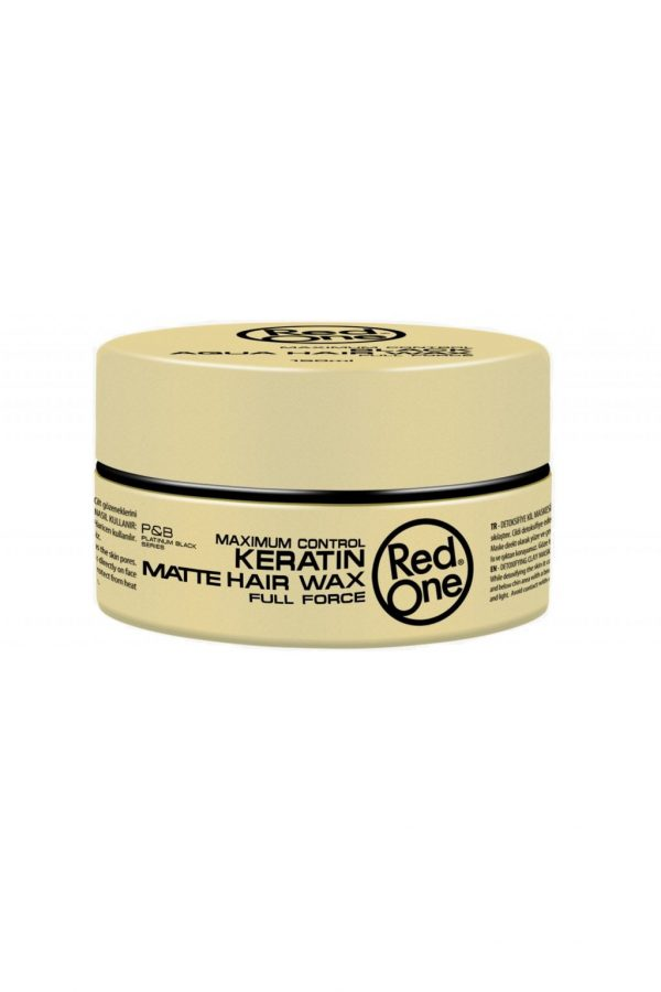 Red One Matte Hair Wax Keratin