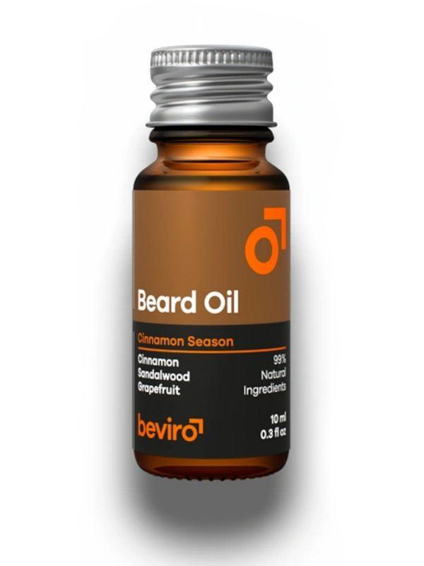 Olej na fúzy Beviro Cinnamon Season sa stará o vašu bradu silou prírodných olejov a dodáva krásnu vôňu škorice.