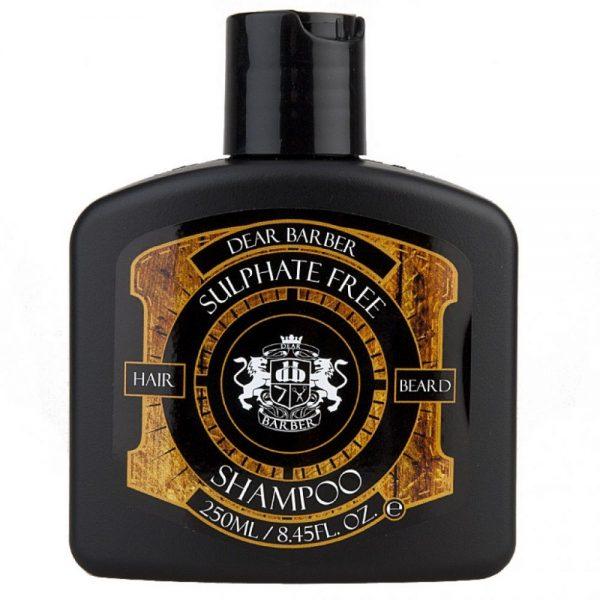 Dear Barber Sulphate Free Shampoo je jemný pánsky šampón na vlasy a fúzy bez obsahu sulfátov.