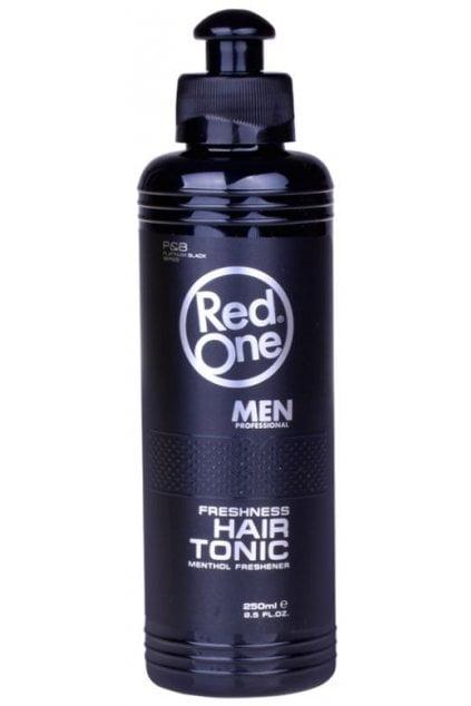 Red One Hair Tonic je voda na vlasy, ktorá obnovuje vlasové folikuly.Pomocou svojho špeciálneho vzorca pomáhaspomaľovať straty vlasov.