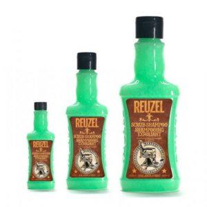 Reuzel SCRUB shampoo - čistiaci šampón na vlasy s unikátnou kombináciou na čistenie a peeling spolu s tonikovou zmesou Witch Hazel.