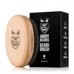 Angrybeard Drevená kefa na bradu a fúzy Gentler 001