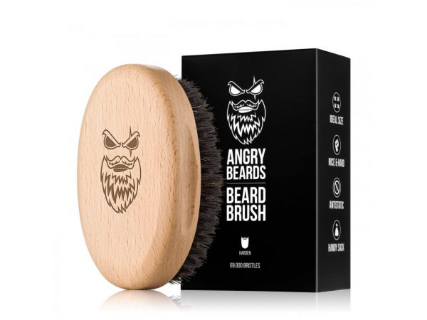 Angrybeard Drevená kefa na bradu