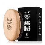 Angrybeard Drevená kefa na bradu a fúzy Harden